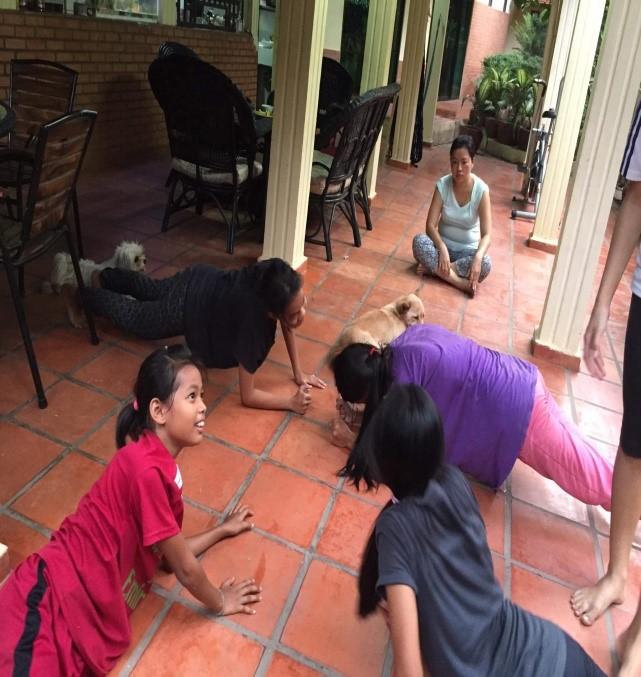 activite physique des enfants en confinement pour faire face au virus
